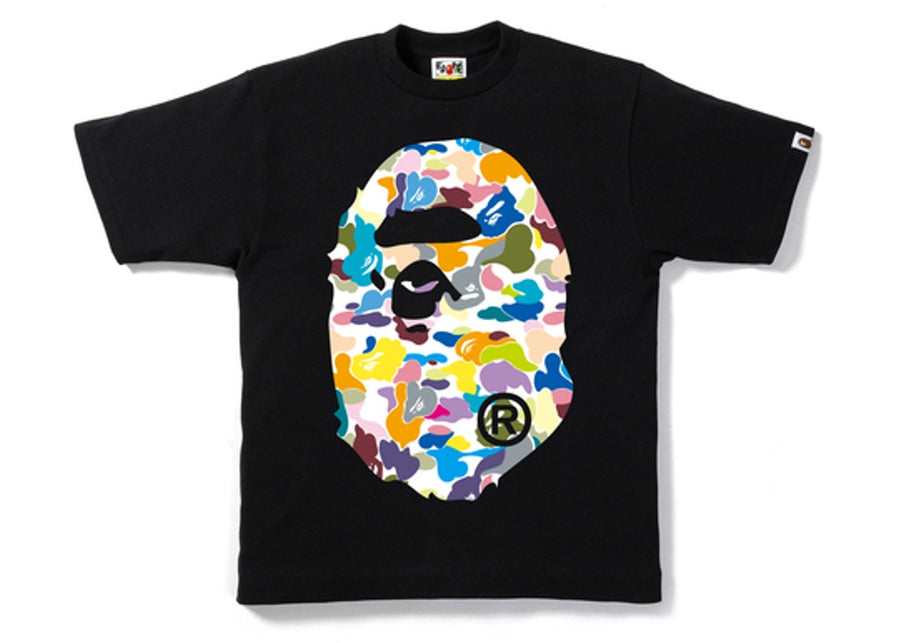 Bape Multi Camo Big Ape Head Tee