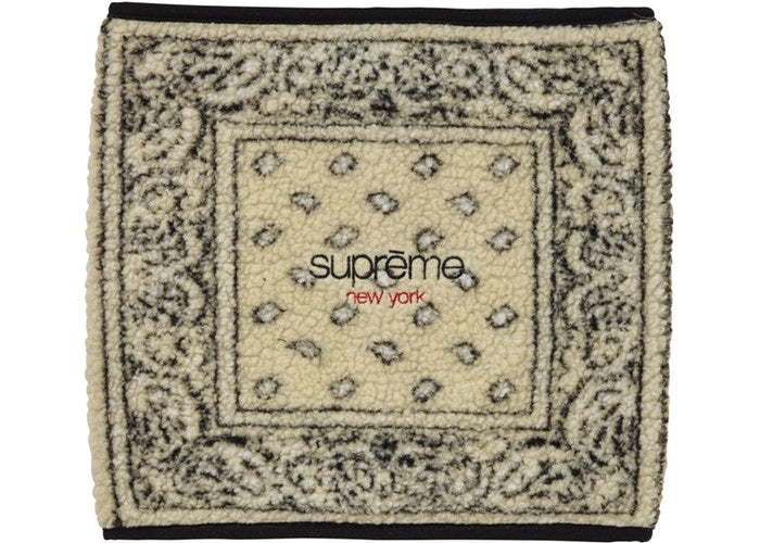 Supreme Bandana Fleece Neck Gaiter Tan