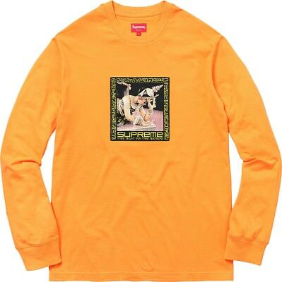 supreme best in the world long sleeve yellow