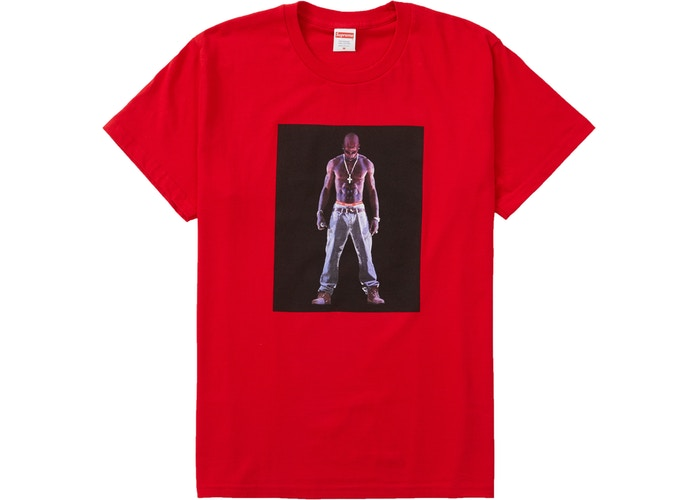 Supreme Tupac Hologram Tee Red