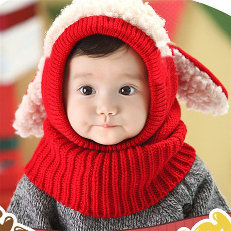 42f02372b26 ... Cute Baby Rabbit Ears Knitted Hat Infant Toddler Winter Warm Hat ...