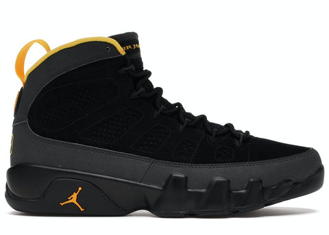 JORDAN 9 RETRO DARK CHARCOAL UNIVERSITY GOLD