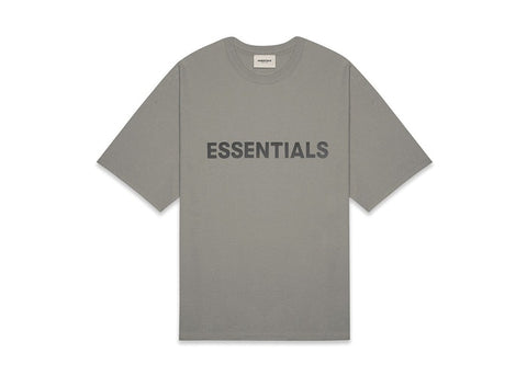 FEAR OF GOD ESSENTIALS 3D SILICON APPLIQUE BOXY T-SHIRT CEMENT