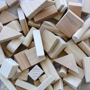 80 Piece Natural Wooden Block Set