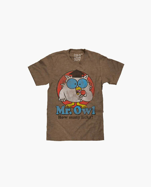 "Mr. Owl ""How Many Licks?"" T-Shirt"