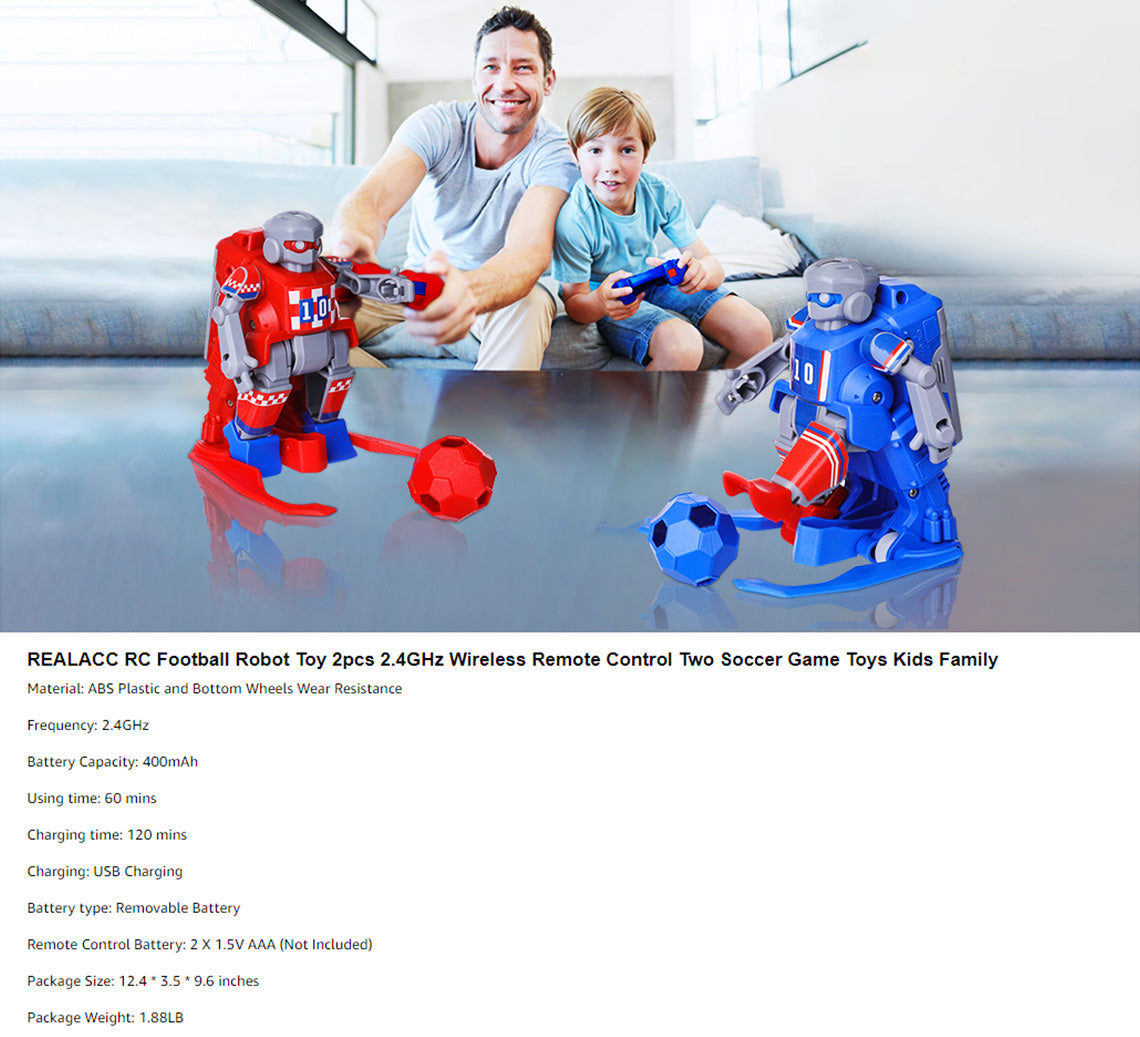 2.4G Remote Control RC Soccer Robots for Kids