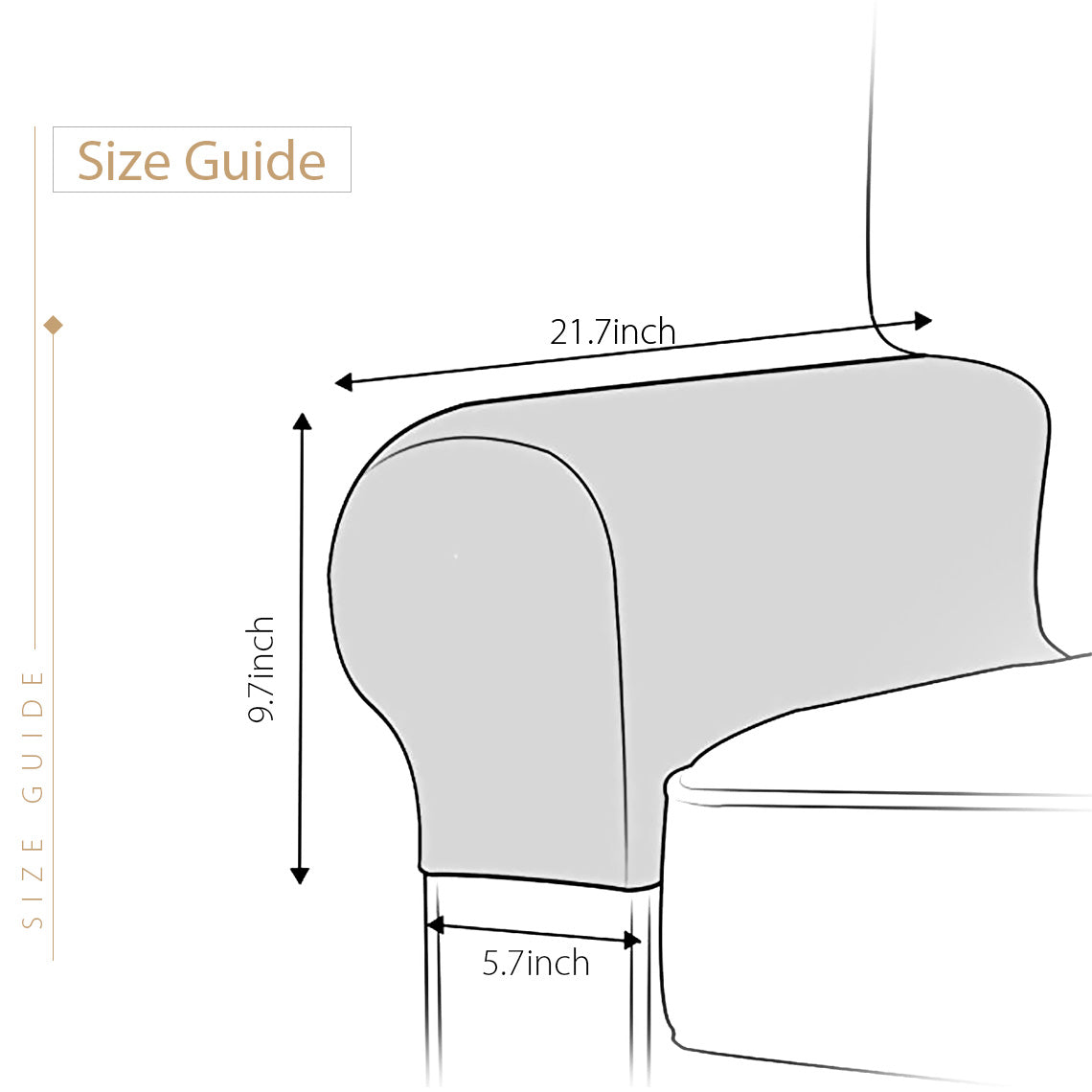 1 Pair Elastic Sofa Armrest Protector Covers