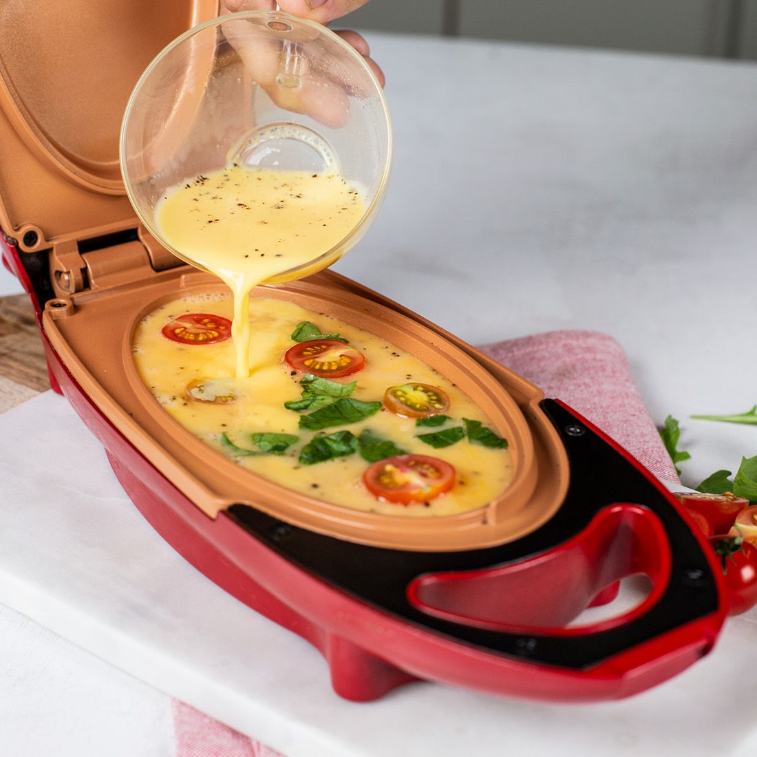 Red Copper 5 Minute Chef Electric Frypan