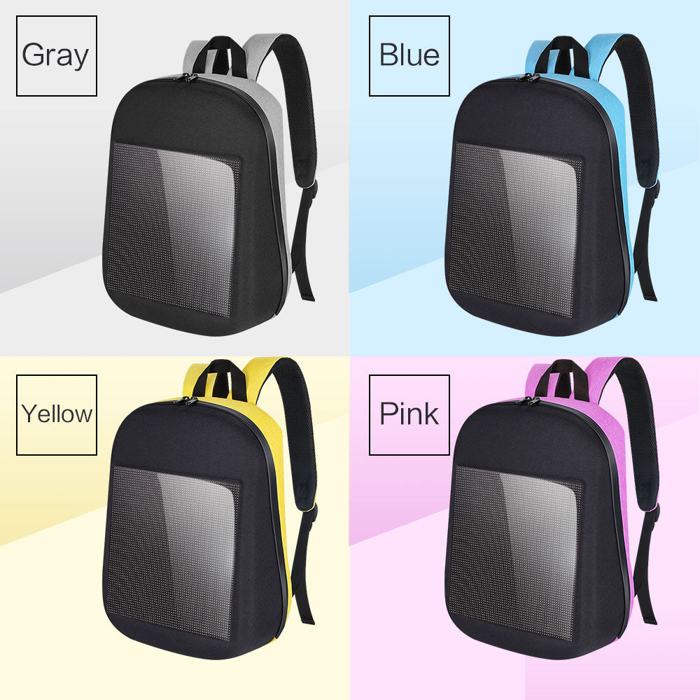 Waterproof WiFi Version Smart DIY LED Screen Dynamic Backpack