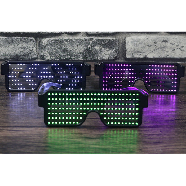 Luminous LED Flash Rechargeable Eye Glasses for Party