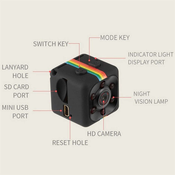 SQ11 1080P Mini Car Hidden DV DVR Camera Spy Dash Cam IR Night Vision