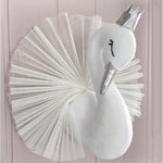 Wall Hanging Stuffed Swan Decoration - Loviver.com