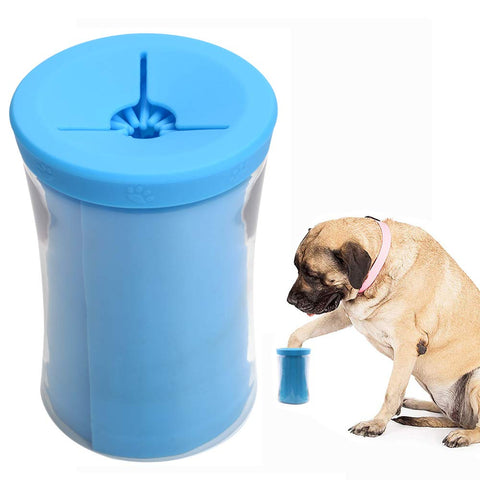 Portable Pet Dog Detachable and washable Paw Cleaner Cup With cover