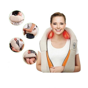 Electrical Heating Shiatsu Back Neck Massager EU Plug