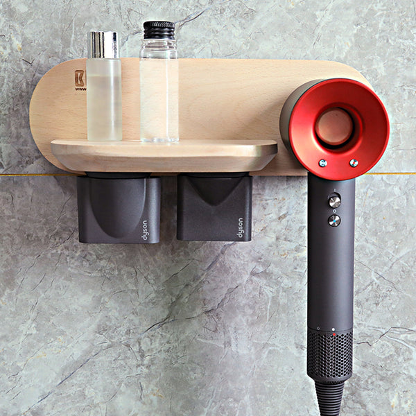 Wooden Wall Mount Magnetic Display Stand Holder for Dyson Supersonic Hair Dryer