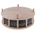 Cat Round Sleeping Sofa with Wood Stand - Loviver.com