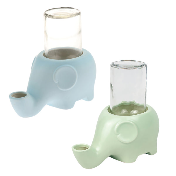 Water Feeder with Elephant Shape Pet Water Bottle for Kitten Cat Dog Puppy