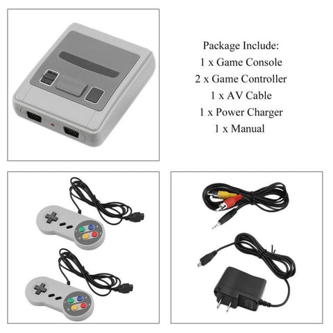 TV Video Game Console Player SFC Built-in 621 Classic Games
