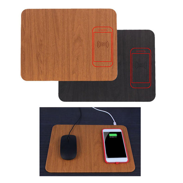 Wireless Charging Mouse Pad Desktop Charger Brown for Samsung Galaxy S7
