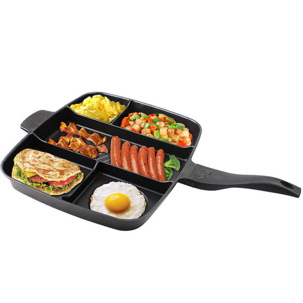 5 In 1 Non-stick Multi Grill Pan - Loviver.com