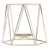 Nordic hollow 3D Geometric Iron Candelabra Candle Holder