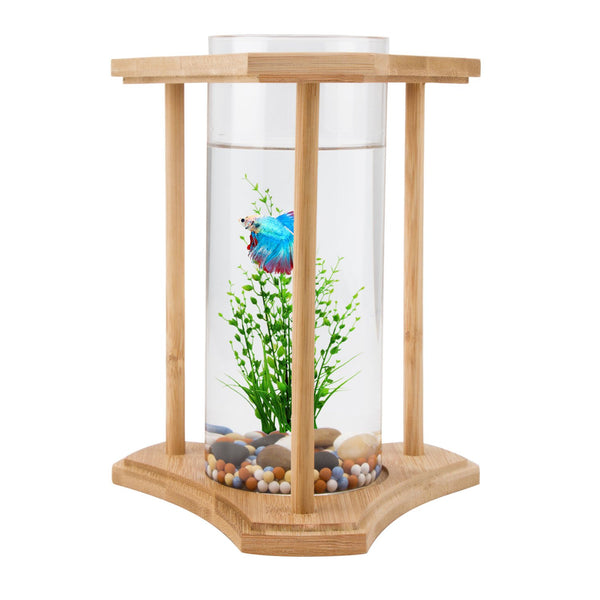 Bamboo Glass Triangle Fish Tank