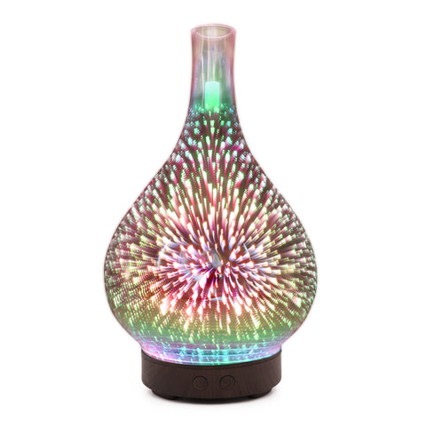 100ml 3D LED Color Changing Essential Oil Diffuser Humidifier - Loviver.com
