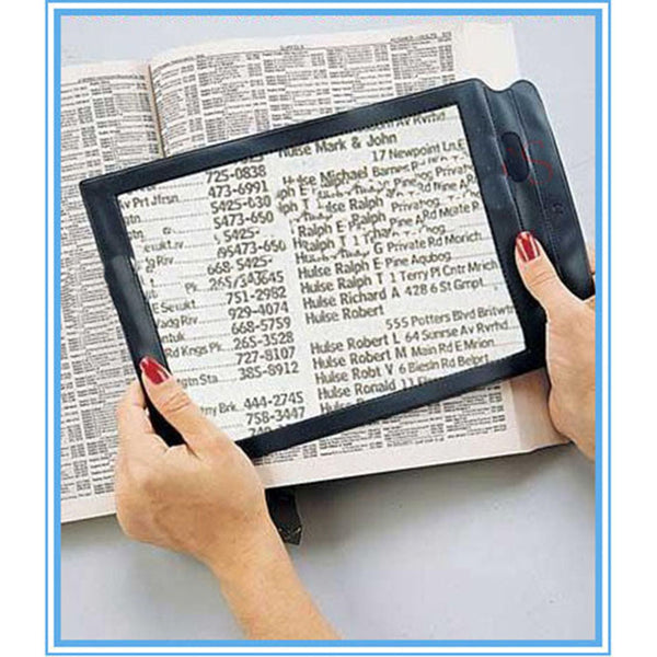 Seniors Presbyopic Reusable Triple Full Page Magnifier Reading Magnifying
