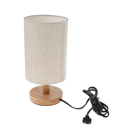 Fabric Bedside Table Lamp Lampshade - Loviver.com