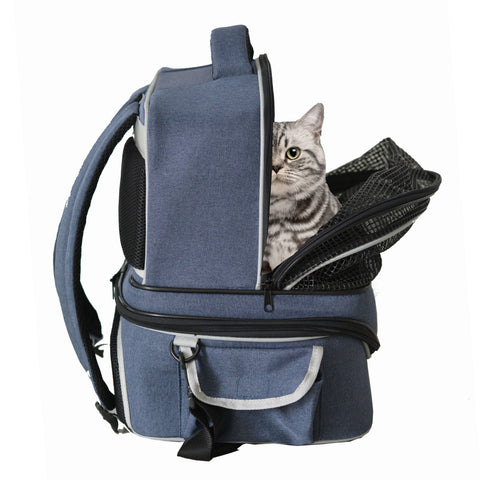 Detachable Pet Carry Travel Cage Carrier Bag Cat Dog Nest Shoulder Bag - Loviver.com