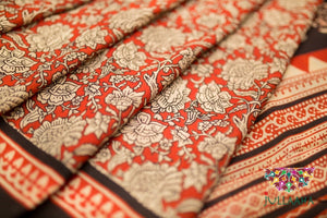 Handcrafted Authentic Original Kalamkari Saree from Jullaaha _ www.jullaaha.com
