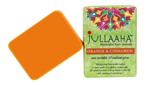 Orange and Cinnamon Bathing Bar from Jullaaha _ Handcrafted Exotic Ayurveda _ Ayurvedic Soap for Glowing Wrinkle Free Skin