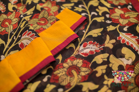 Handpainted Handcafted Authentic Original Kalamkari Saree from Jullaaha _ www.jullaaha.com