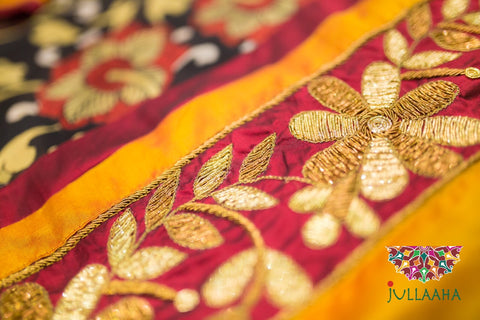Authentic Original Handcrafted Handworked Hand Embroidered Kundan Zardosi Sarees from Jullaaha_www.jullaaha.com_zardozi