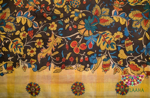 Handpainted Handcrafted Authentic Original Kalamkari Saree from Jullaaha Boutique_ www.jullaaha.com