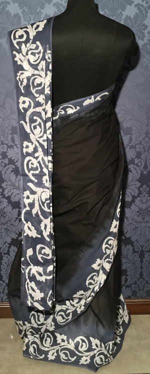 Cotton Crafted Batik - Black and half White - Jullaaha Boutique
