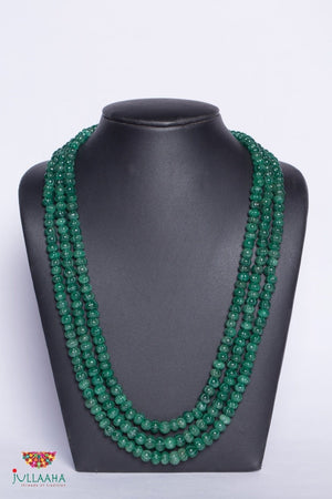 Three Line Green Beads Mala - Jullaaha Boutique