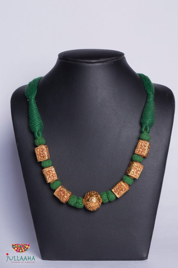 Antique Set With Green Colour Thread - Jullaaha Boutique