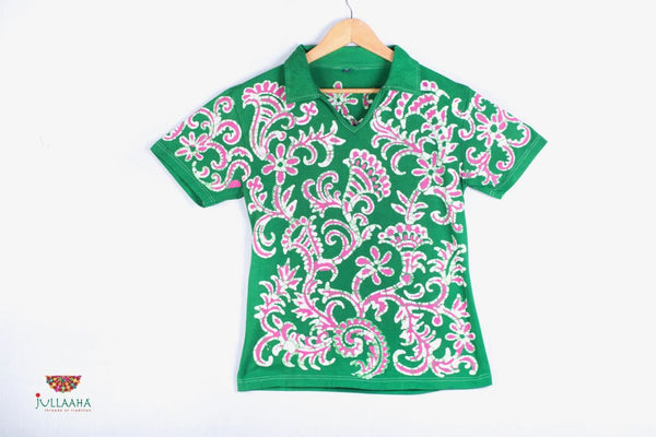 Batik Design T-Shirt - Jullaaha Boutique
