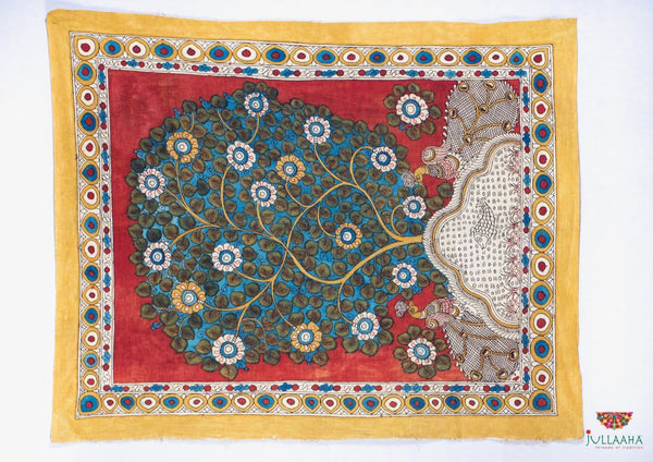Handpainted Kalamkari Wall Hanging - Jullaaha Boutique