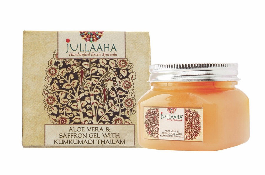 Aloe Vera and Saffron Gel with Kumkumadi Thailam - Jullaaha Boutique