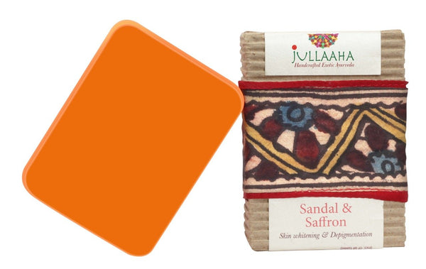 Sandal & Saffron Bathing Bar - Jullaaha Boutique