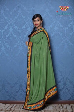 Kalamkari Saree - Green - Jullaaha Boutique