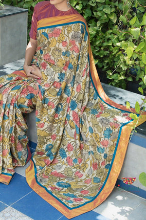 Kalamkari Saree - Multi colour - Jullaaha Boutique