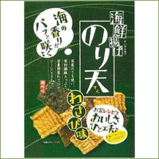 Maruka Shokuhin Nori Ten Wasabi Aji Rice Crackers 80G - Snacks