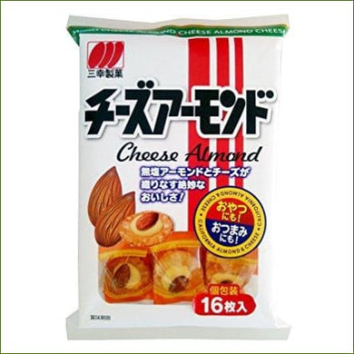 Sanko Seika Almond Cheese Senbei 52G - Snacks
