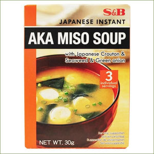 S&b Instant Miso Soup Aka 30 G (3 X 10G) - Condiments
