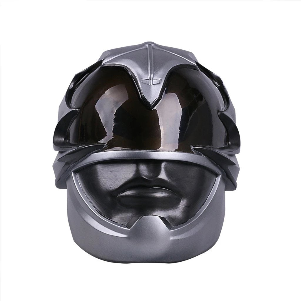 Power Rangers Mighty Morphin Legacy Silver Cosplay Helmet