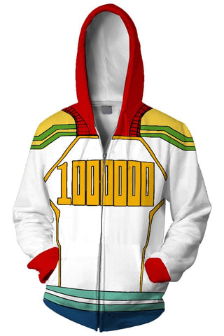My Hero Academia Hoodie Boku no Hero Million Zip Up Sweatshirt