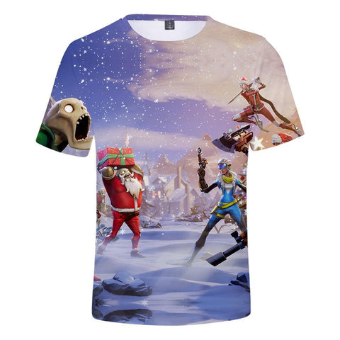 Game Fortnite Battle Royale Cosplay Short Sleeved T-Shirt
